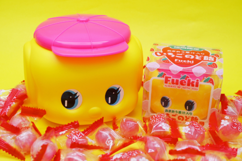新商品「福岡限定フエキくん」 「フエキあまおう果汁入りいちごのど飴」