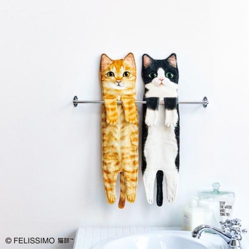 フェリシモ猫部 こんなに伸びるの!?なが~い猫タオルの会