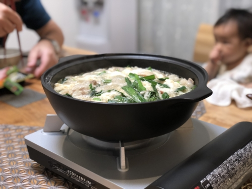 ダイショーもつ鍋スープ(しょうゆ味) にんにくマシマシ とろろもつ鍋