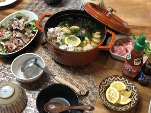 ダイショーもつ鍋スープ(しょうゆ味)エスニック風パクチーたっぷり鍋