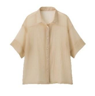 GU 着回し シアーオーバーサイズシャツ