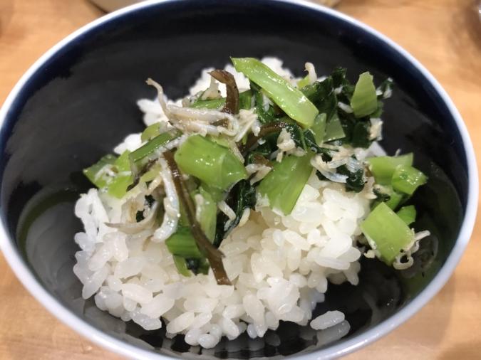 じゃこと小松菜と塩昆布のふりかけ