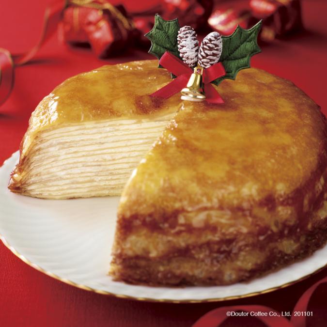 クリスマスミルクレープ