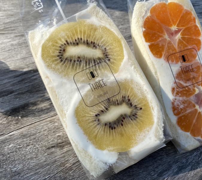 fruit sand three(フルーツサンドスリー)アップルキウイサンド