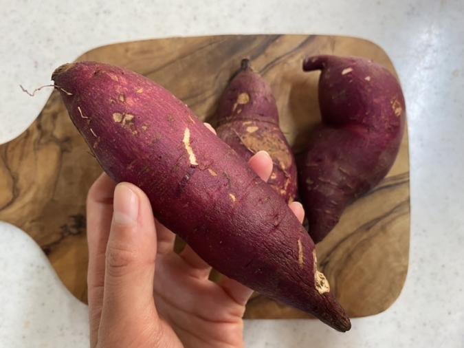 サツマイモ入り紫蘇餃子
