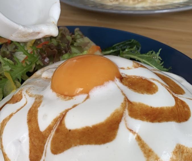 パスタ W's Cafe(ウーズカフェ) 卵のせ
