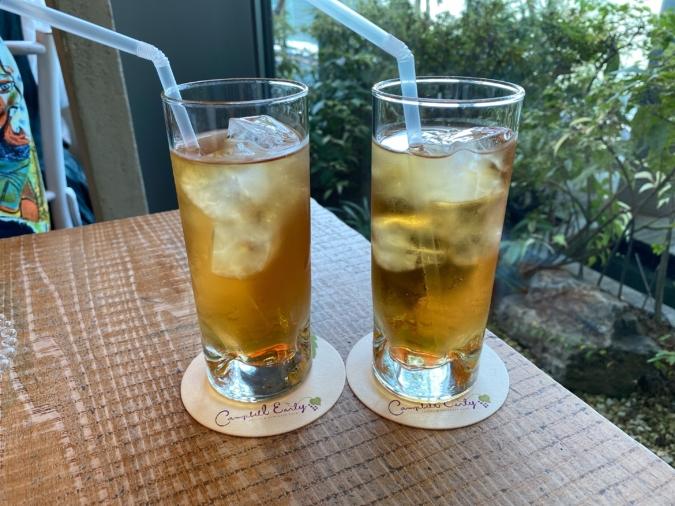 キャンベル・アーリー/「季節の紅茶」。この日はりんごとアプリコットをブレンドした、少し甘酸っぱいフルーティーな「アップルガーデン」
