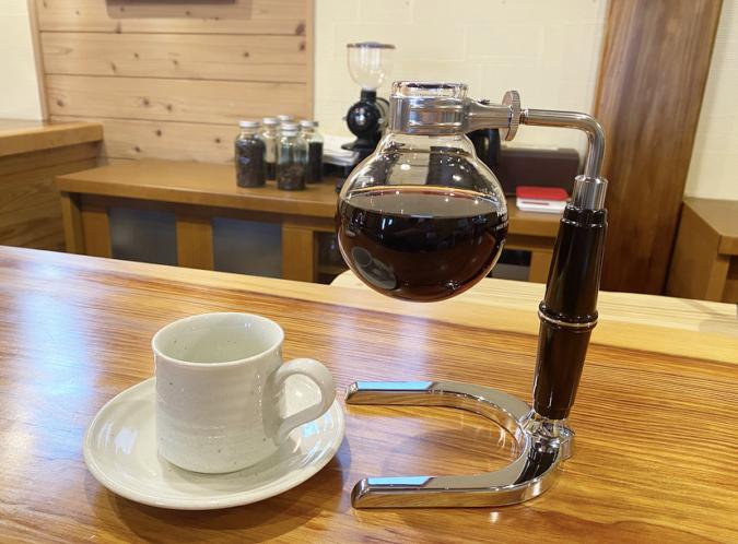 深山の牡丹 フラスコ コーヒー