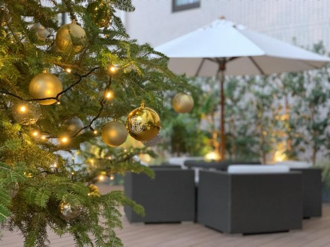 オリエンタルホテル福岡 テラス席で楽しむクリスマスコース