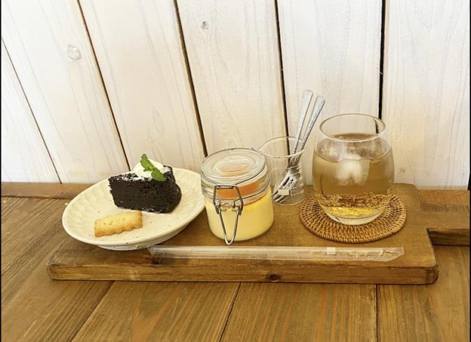 cafe 居場所 デザート2種盛り