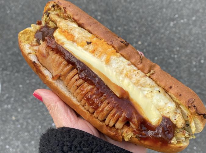 今屋のハンバーガー 西新店 フランクエッグチーズ