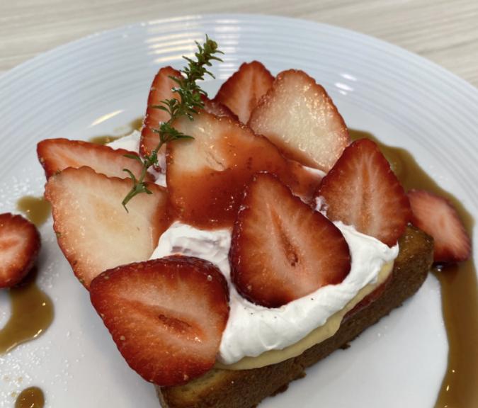 MARUYA recipe いちごのブリオッシュトースト