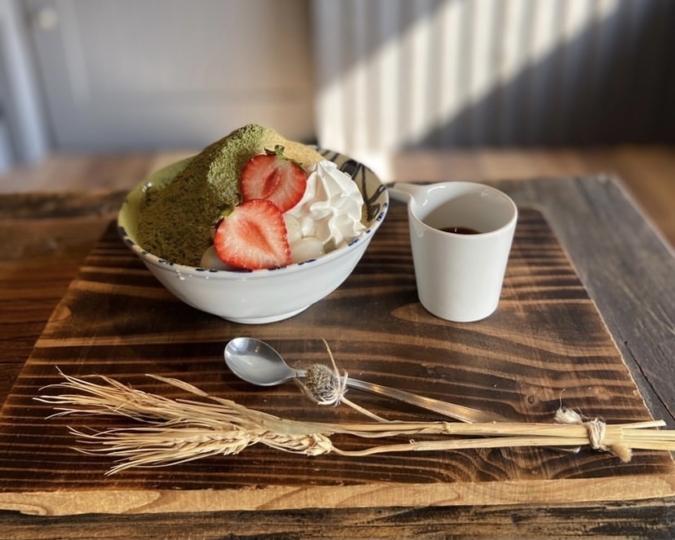 厳選野菜料理とかんなアイスのお店 夜空 八女抹茶ときな粉のかんなアイス
