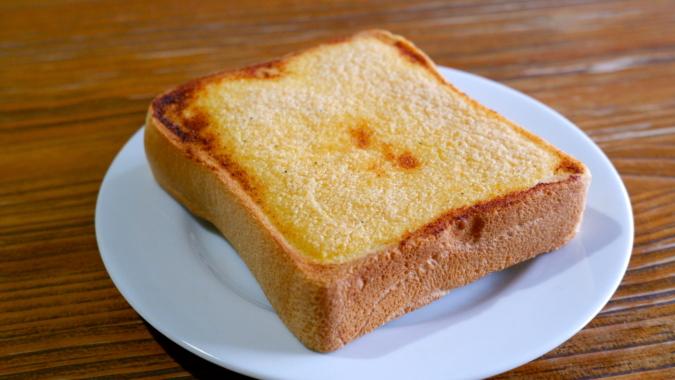 博多明太トースト 焼き加減