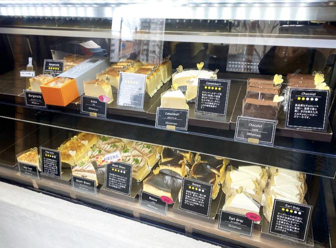 KAKA cheese cake store(カカ チーズケーキストア) ショーケース