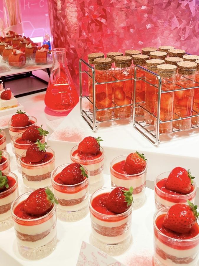 ANAクラウンプラザホテル福岡「いちごの研究所 Pink Lab」 スイーツ