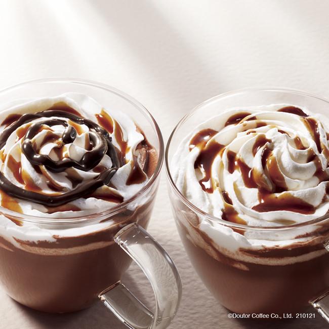 ドトールコーヒーショップの「ダブルナッツ ショコラ~アーモンド&ヘーゼルナッツ~」&「ダブルナッツ ショコラモカ~アーモンド&ヘーゼルナッツ~」