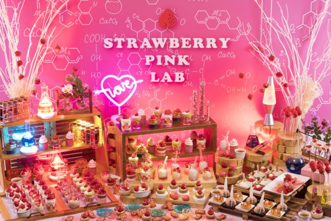 ANAクラウンプラザホテル福岡のいちごを使ったデザートビュッフェ「ストロベリーデザートビュッフェ~Pink Lab~」
