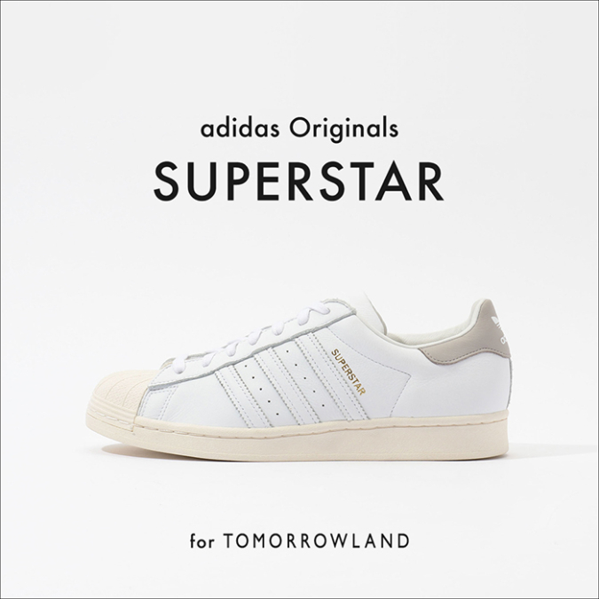 adidas Originals for TOMORROWLAND SUPERSTARレザースニーカー イメージ