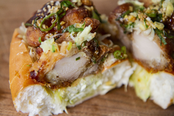 『SAND GOTO(サンドゴトウ)』 油淋鶏 切り口