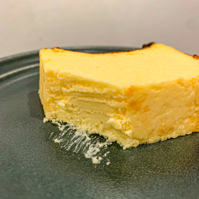 バスクチーズケーキ(断面)