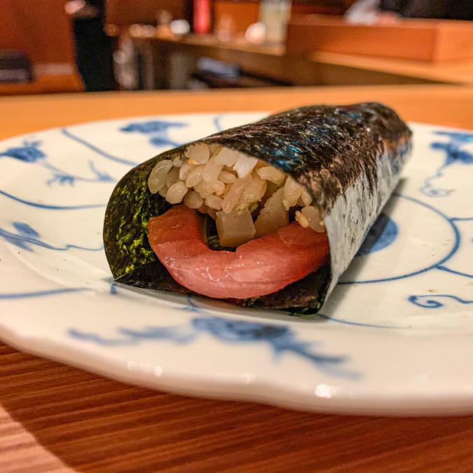 ヨコワの手巻き寿司