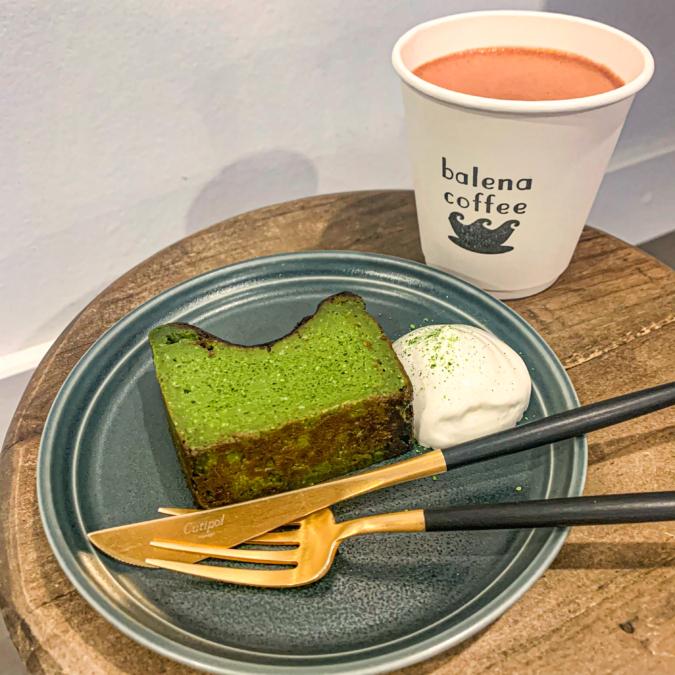 抹茶バスクチーズケーキ