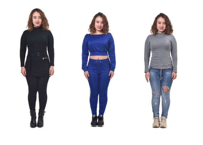 服装が違う女性
