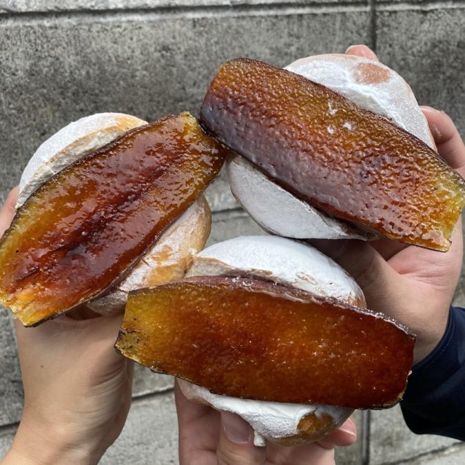 焼き芋ブリュレマリトッツォ