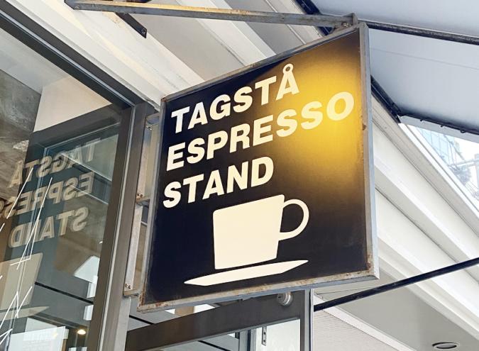 TAGSTÅ(タグスタ) お店の看板
