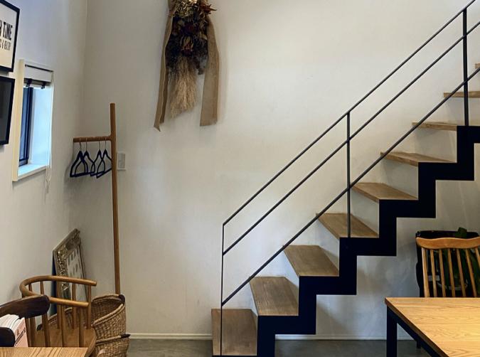 ベンチタイムの階段