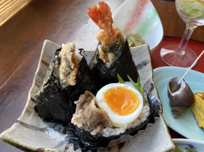 cuidaore cafe(くいだおれカフェ)選べるおむすび定食 おにぎり