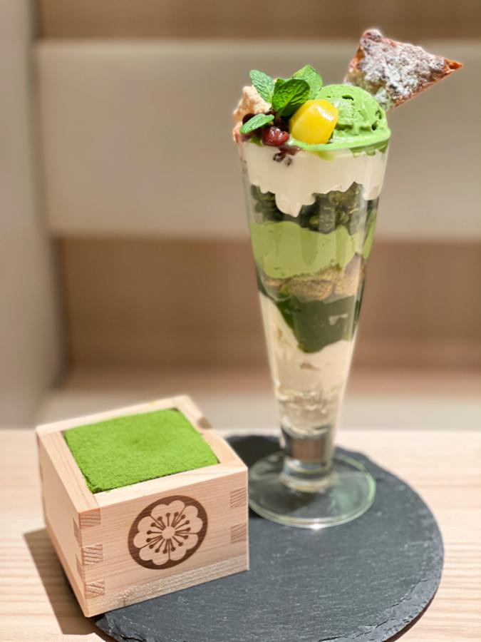 抹茶カフェ HACHI 博多店 パフェ