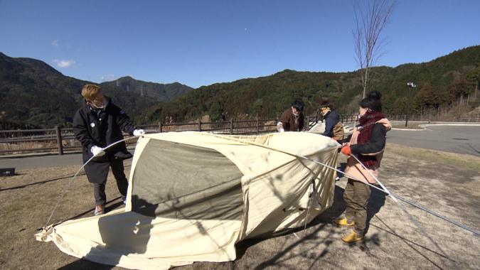 テント設営 福岡キャン友会