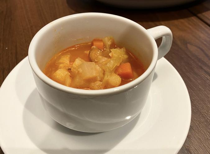 パスタランチの日替わりスープ