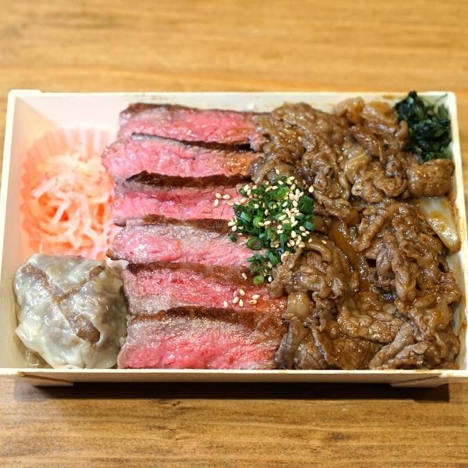 和牛酒場 もり岡 赤身ステーキ&焼肉弁当