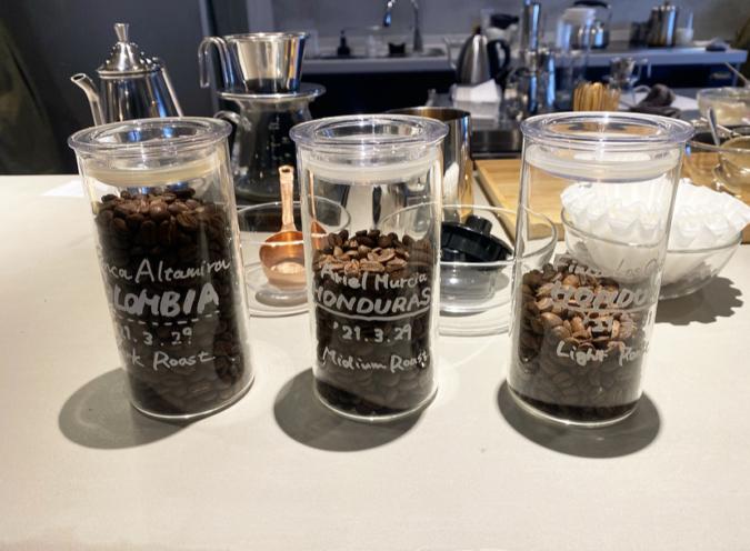 ポスコーヒーの3種類のコーヒー豆