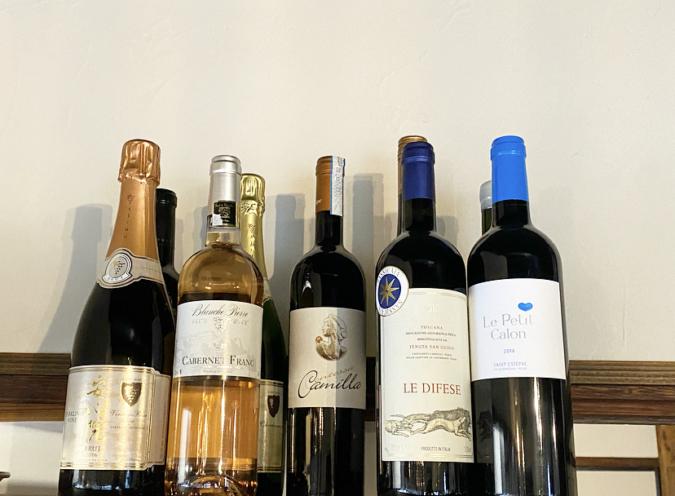 blanc cottaワイン