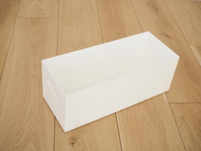洗面台下をきれいに収納するニトリの収納ボックス