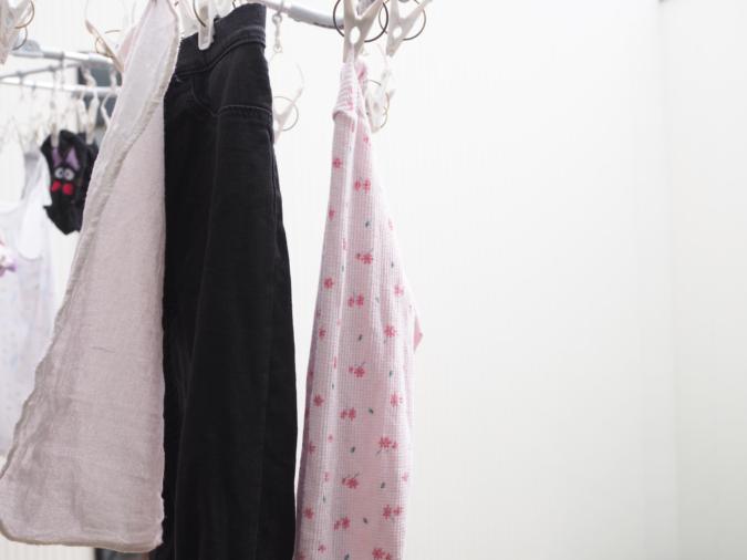 「子持ち家庭のルーティン」 洗濯物