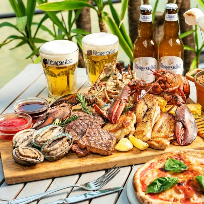 オマール海老&アワビの豪華海鮮とお肉BBQプラン