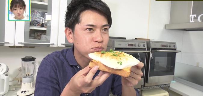 明太マヨはんぺんトースト