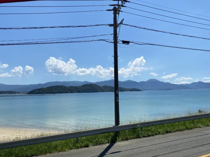 TIME伊都ハイランド店からの海景色