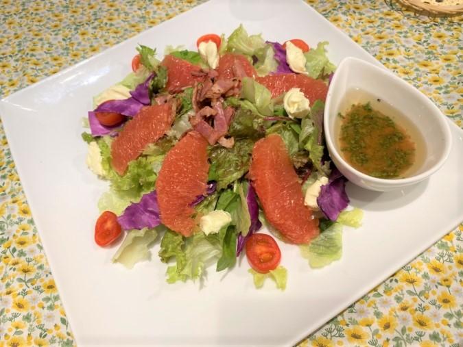 alnicoディナーコースのサラダ