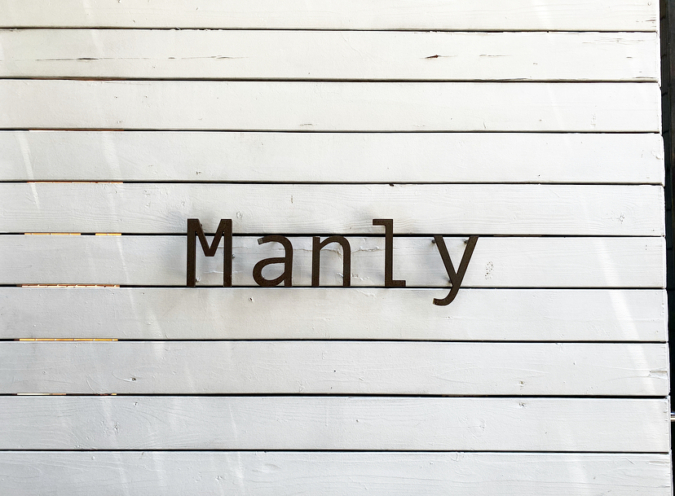 Manly(マンリー) 看板