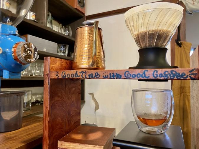 「のらり」のコーヒー抽出風景
