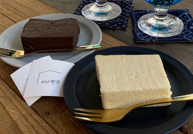 and喫茶『ねっちょりテリーヌショコラ』と『チーズケーキ』