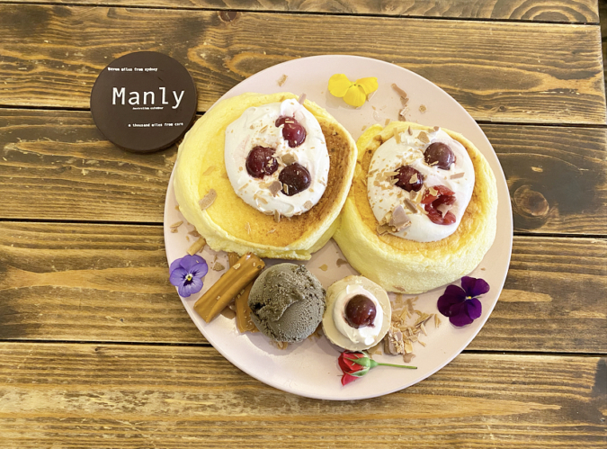 Manly(マンリー)紅茶のパンケーキ