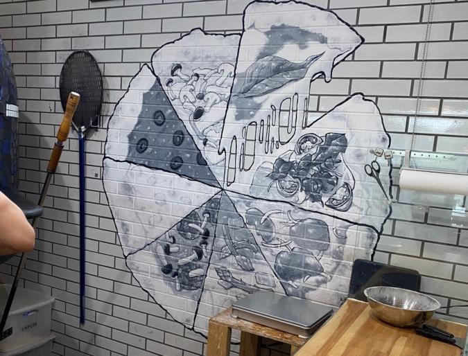 PIZZERIA AVENTO壁画