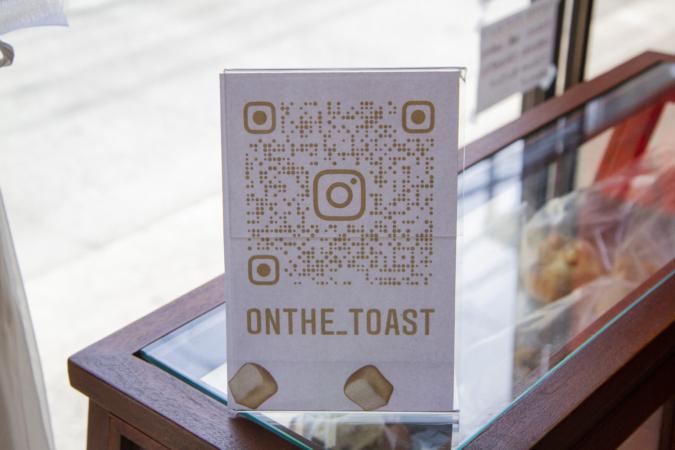 on the Toast(オンザトースト)インスタQR